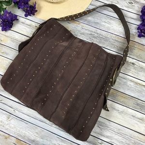 Steve Madden Studded Suede Leather Purse
